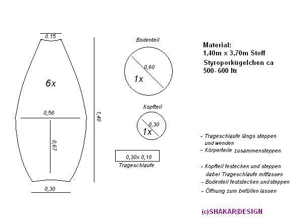 schnittmuster f r einen sitzsack vorlagen templates pinterest schnittmuster n hen und. Black Bedroom Furniture Sets. Home Design Ideas