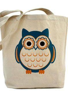 b70a71c9779d Buy  Owl Tote Bag