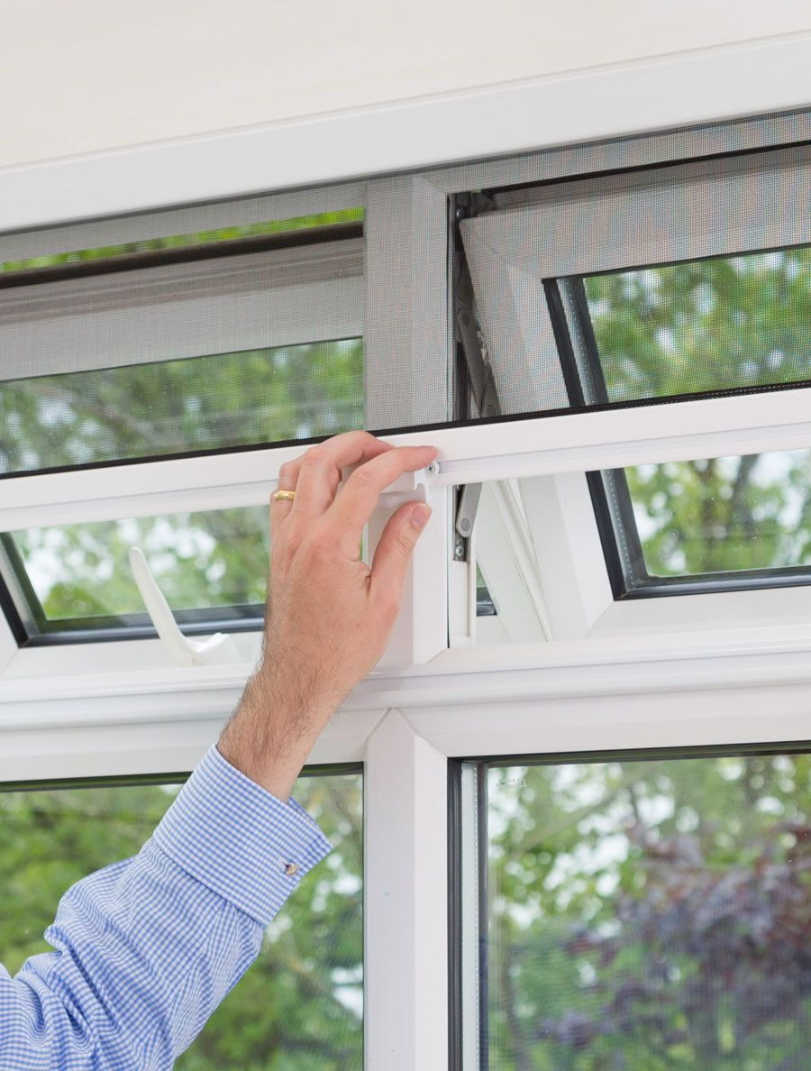Fly screens for doors and windows - Diyflyscreens Co Uk Pull Down Window Fly Screen Narrow 73 00