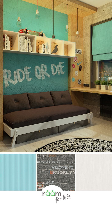 Ein Jugendzimmer Im Loft Stil | Kids Tapeten // Room For Kids | Pinterest |  Room And Kids Room