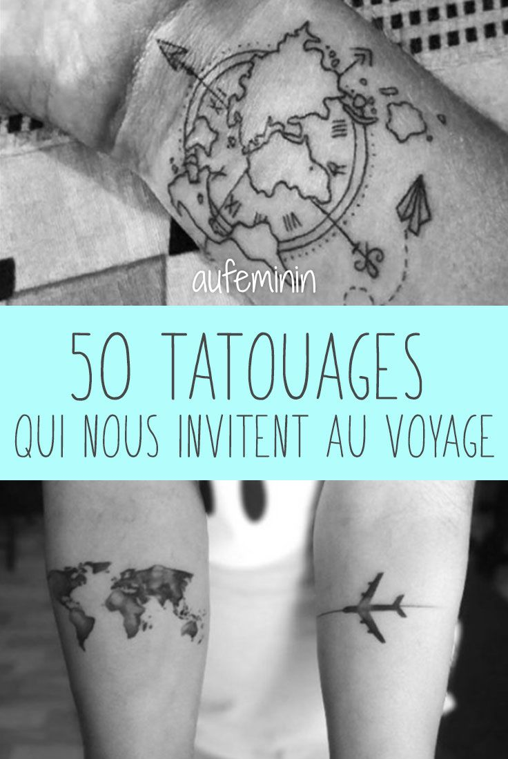 50 tatouages qui nous invitent au voyage tatouages pinterest id es de tatouages les. Black Bedroom Furniture Sets. Home Design Ideas