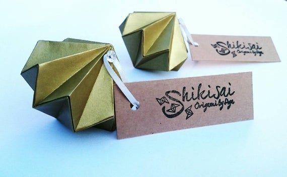 Photo of Origami Diamant, Tischkarten, Hochzeitsdekoration, Tischdekoration, Serviettenring, Junggesellenabschied