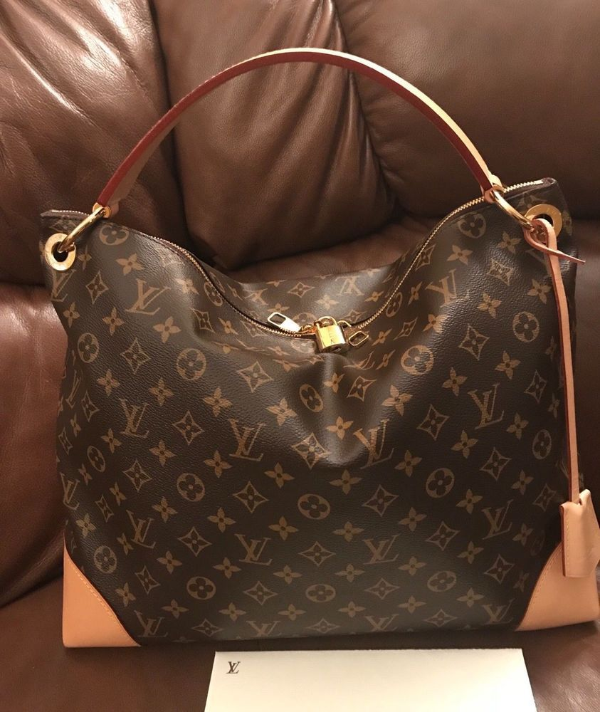 f1d2fa3e42d6e fashion Authentic Louis Vuitton Berri Monogram Canvas MM Handbag ...