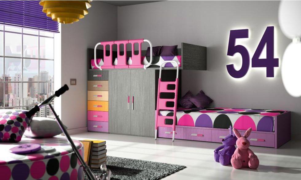 Dormitorio juvenil n mero 9 dormitorios juveniles - Dormitorios con poco espacio ...