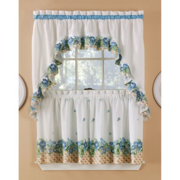 Attractive Sears Kitchen Ruffled Curtains Sets