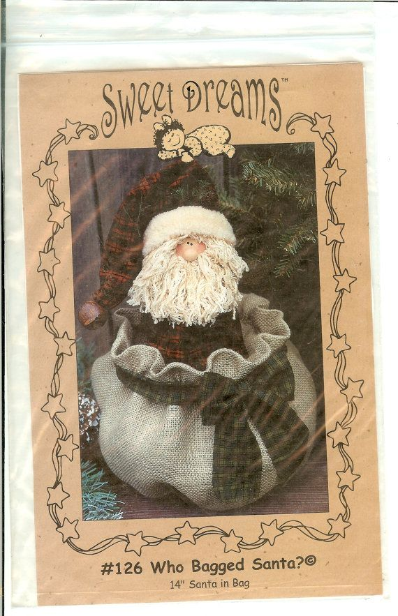 Who Bagged Santa Sewing Pattern 126 14 Cloth Doll By Finders2