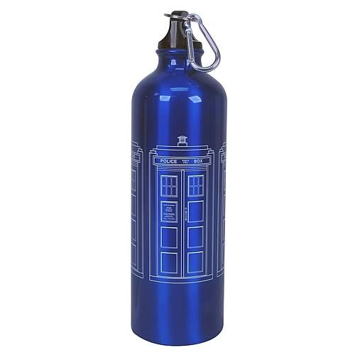 Tardis Water Bottle - I'm sure it fits more liquid on the inside.