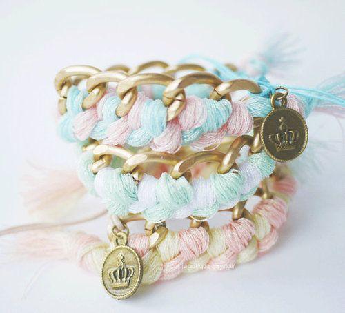 cute pastel pretty bracelet