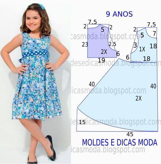 76f44784d patrones de vestidos de nina de 9 anos