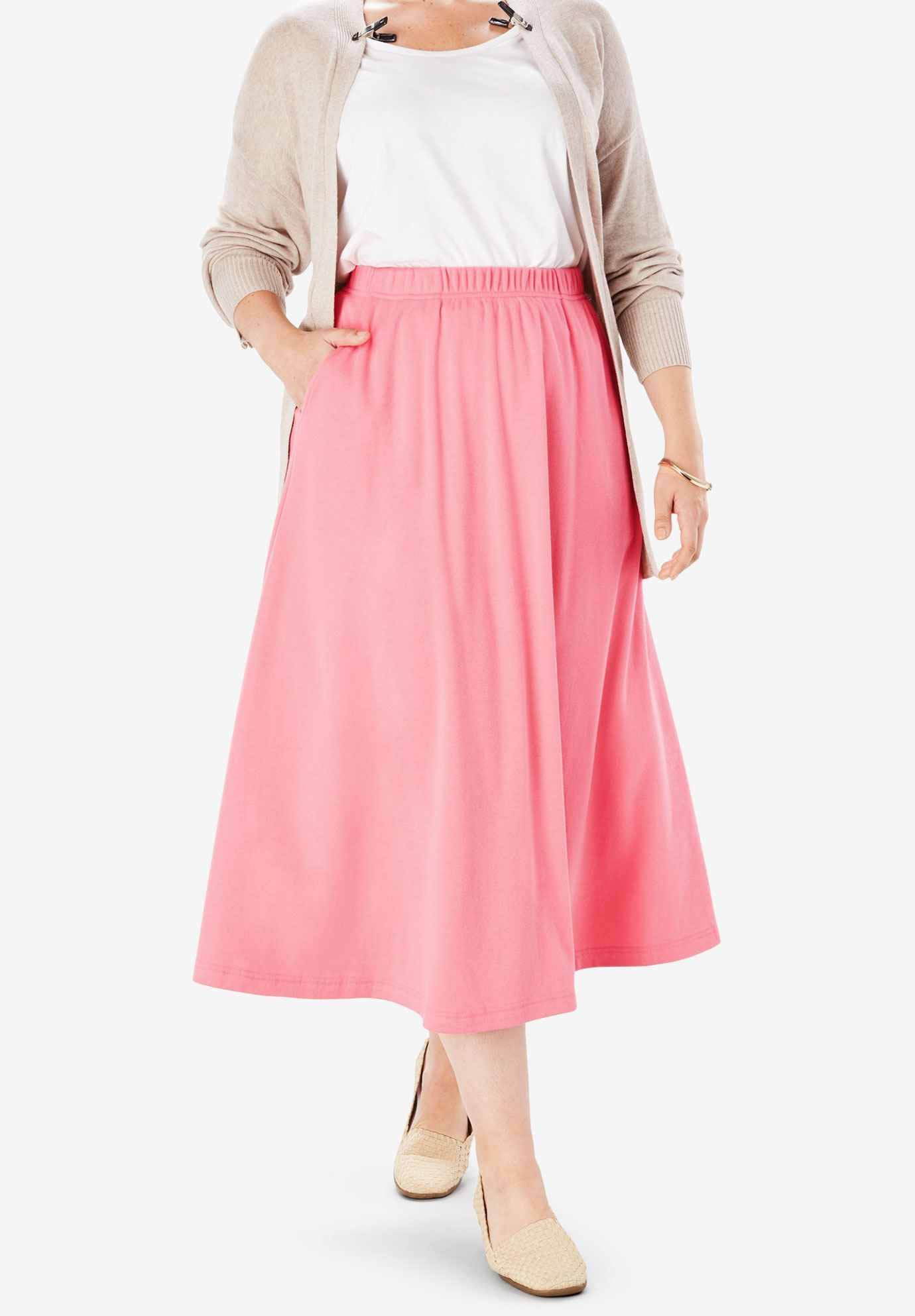 d74304b5e6 7-Day Knit A-Line Skirt   Plus Size Skirts   Woman Within   Clothes ...