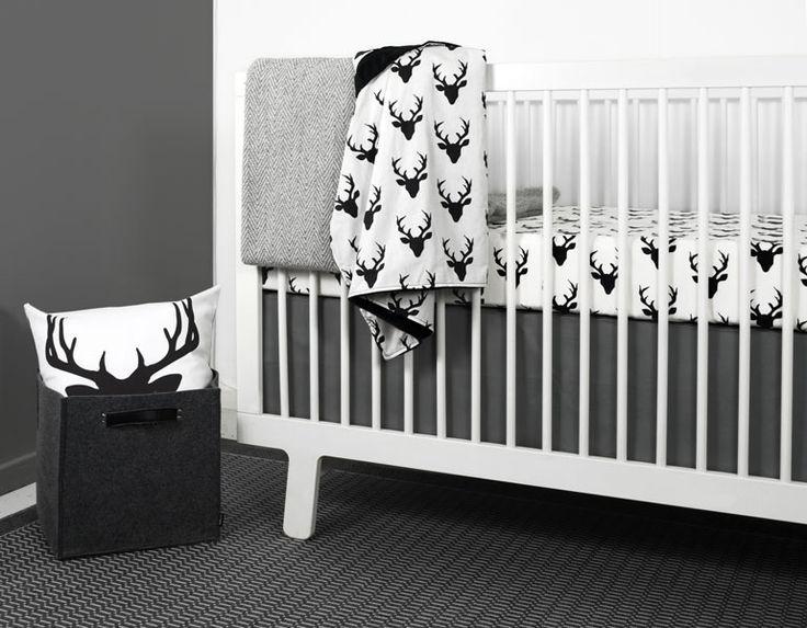olli lime modern crib bedding modern gray triangle nursery