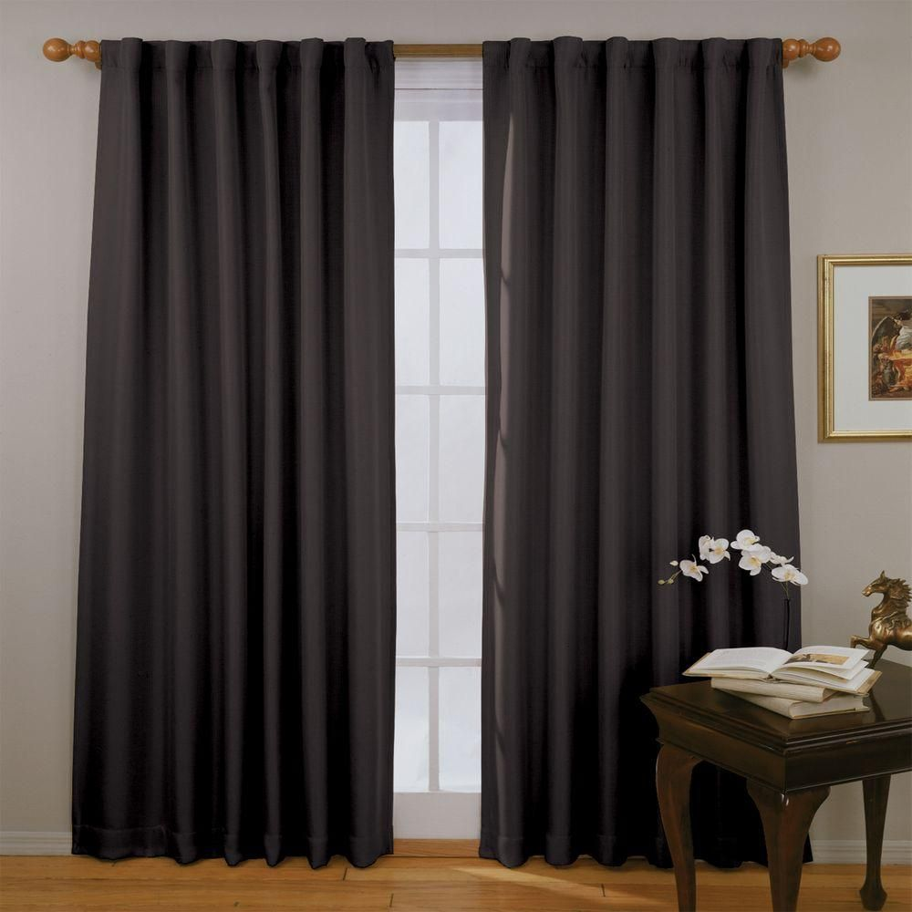 Eclipse Fresno Blackout Dark Blue Curtain Panel in Length
