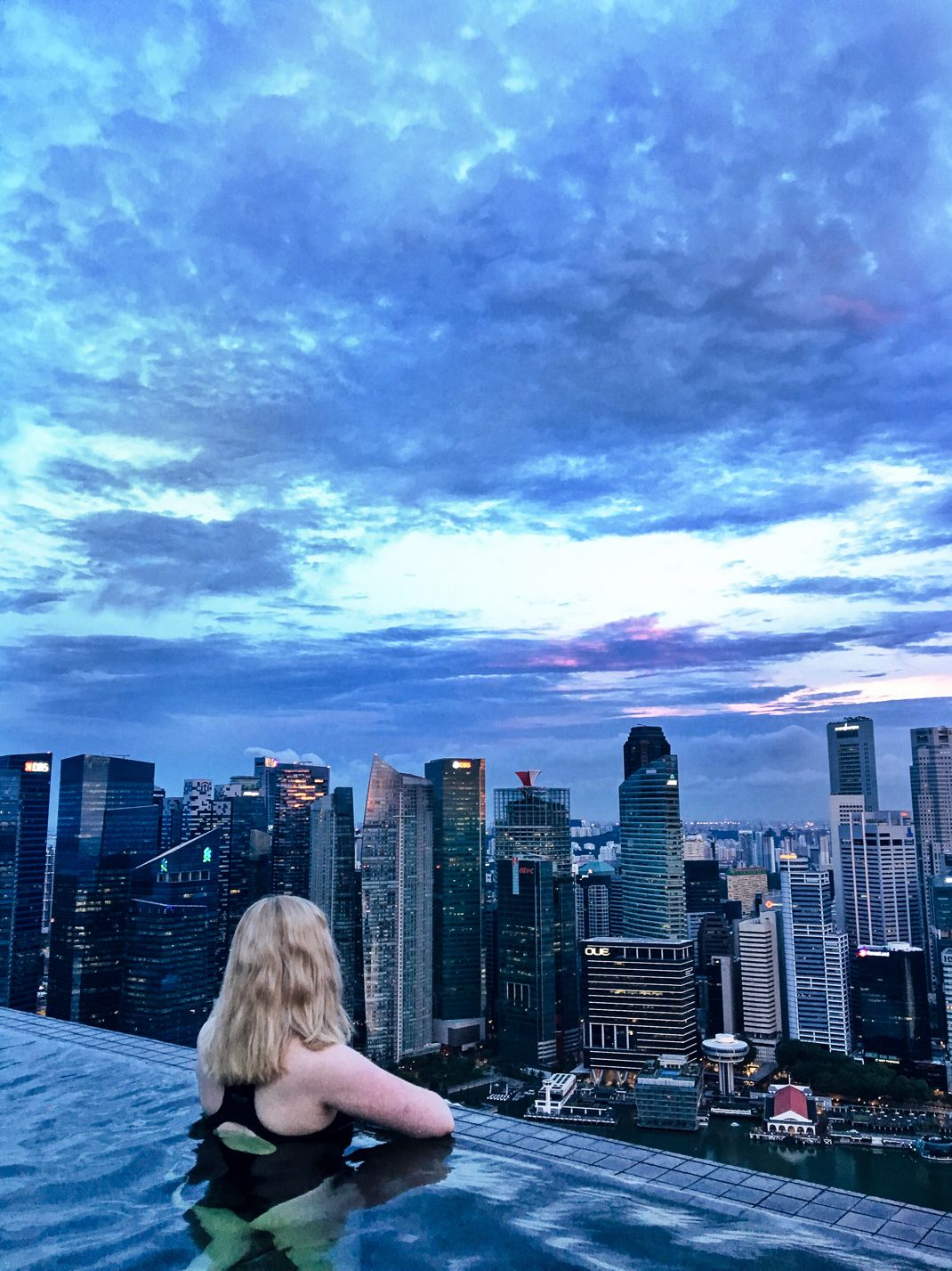 Sunrise Swimming In The Infinity Pool At The Marina Bay Sands Hotel Infinity Pool Sands Singapore Singapore Travel