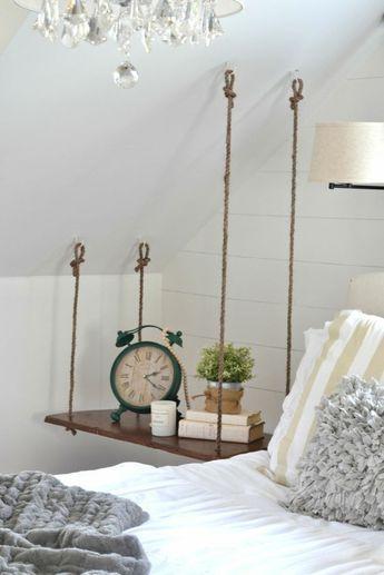Einen hängenden Nachttisch selber bauen #ideenzumselbermachenfürzuhause