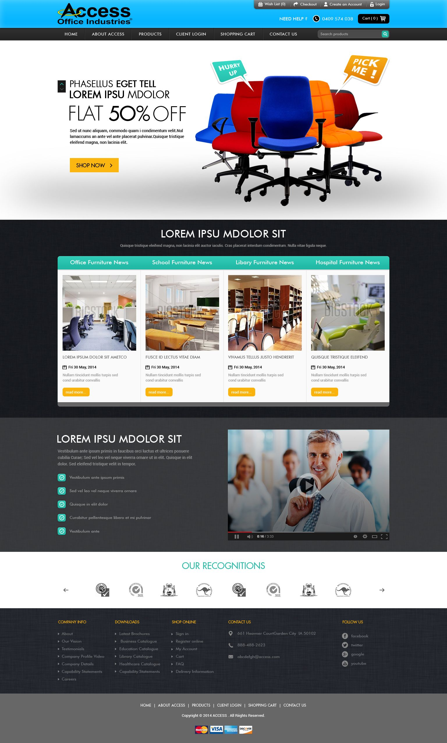 Basically It S The Website Of A Leading Wholesale Distributor And Manufacturer Of Office Furnitures Storage Solutions Fun Website Design Website Design Design