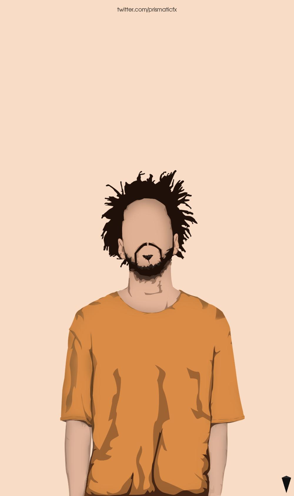 Cole Kendrick Drake Cudi Prismaticfx J Cole Art Rapper Art Rapper Wallpaper Iphone