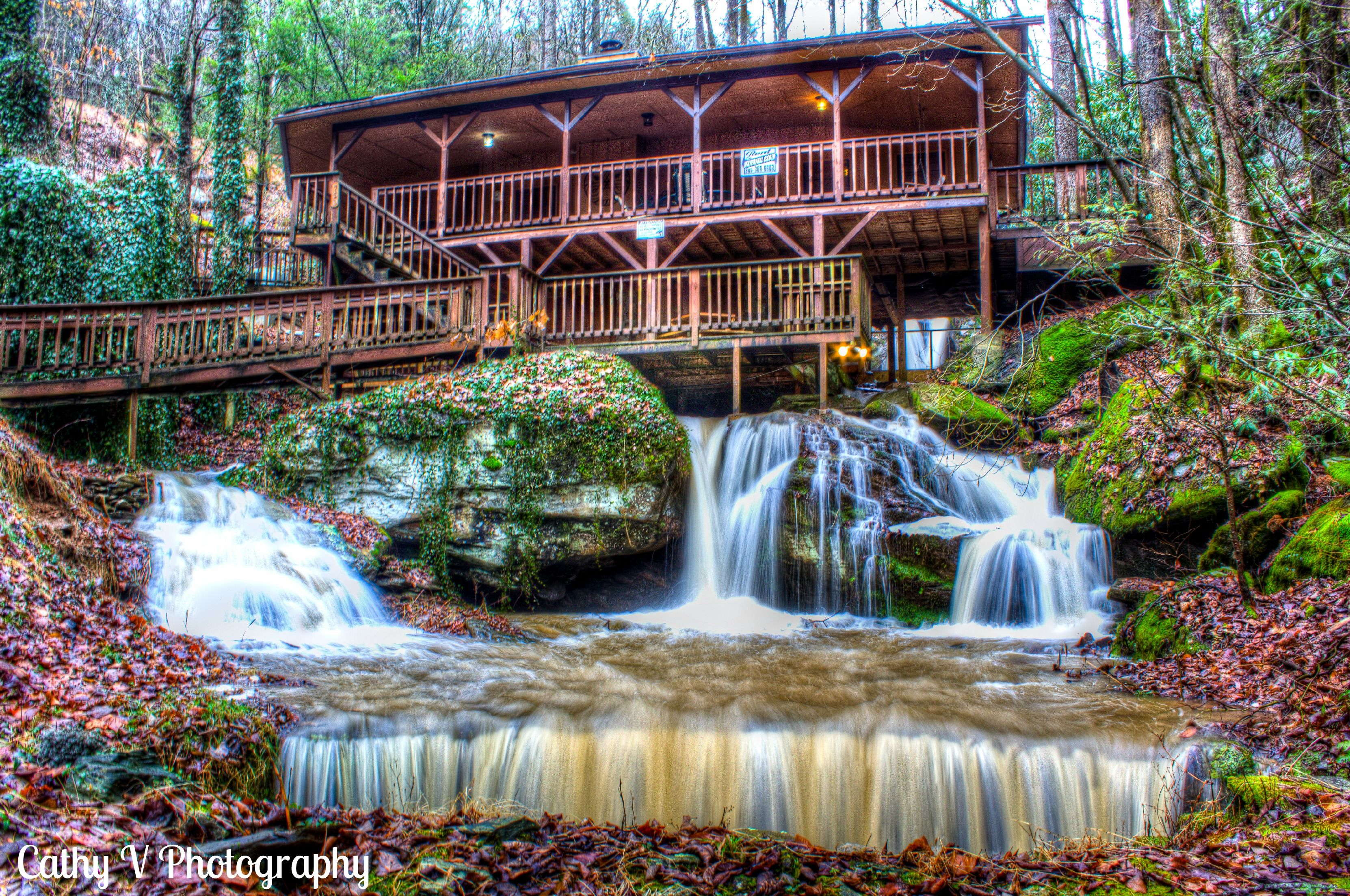 Gorgeous Waterfall Cabin Located In Pigeon Forge,TN  Www.cathyvphotography.com