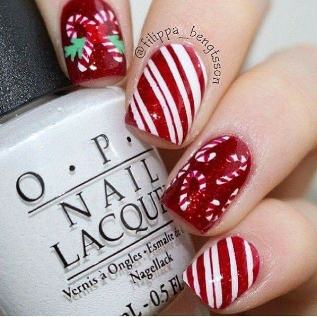 Pin By Erica G On Holiday Nails Pinterest Xmas Nails Beauty