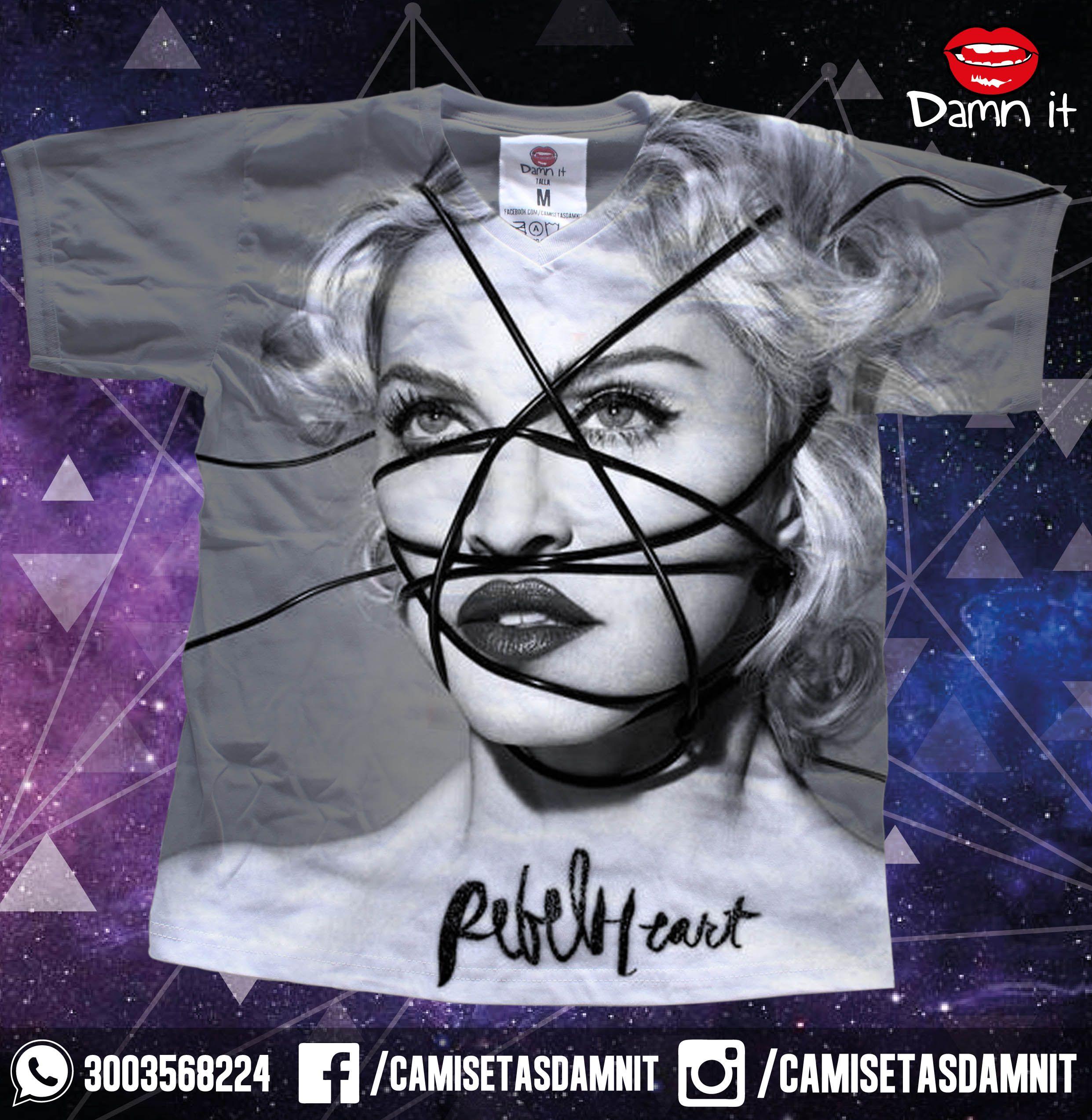 Camiseta Rebel Heart  https://www.facebook.com/CamisetasDamnit/