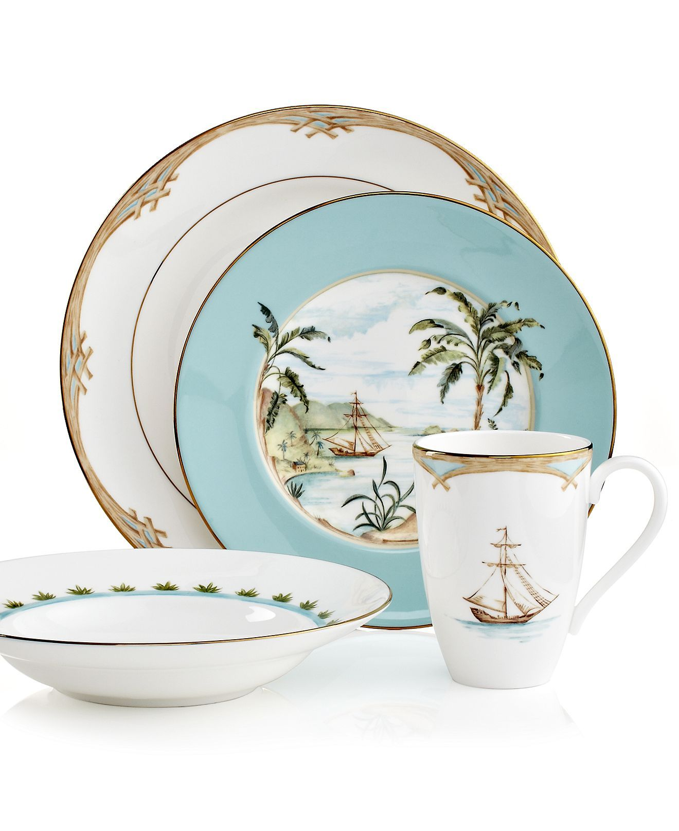 Lenox British Colonial Collection - Fine China - Macy\u0027s  sc 1 st  Pinterest & Lenox British Colonial Collection | British colonial Colonial and ...
