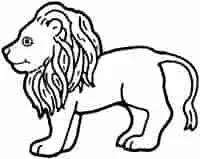 أسد للتلوين Animal Coloring Pages Unicorn Drawing Lion Pictures