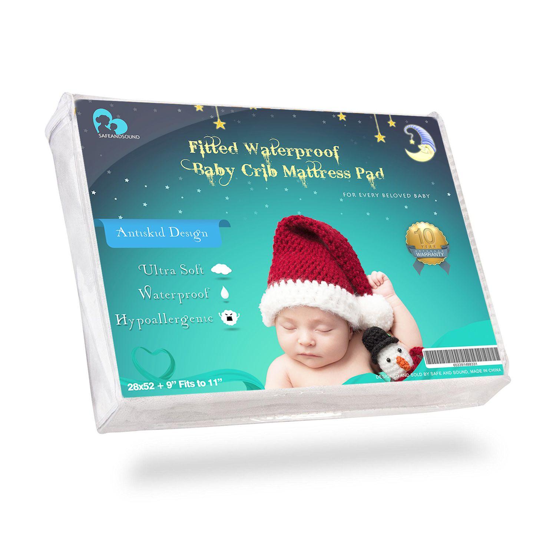 waterproof baby crib mattress protector anti skid hypoallergenic