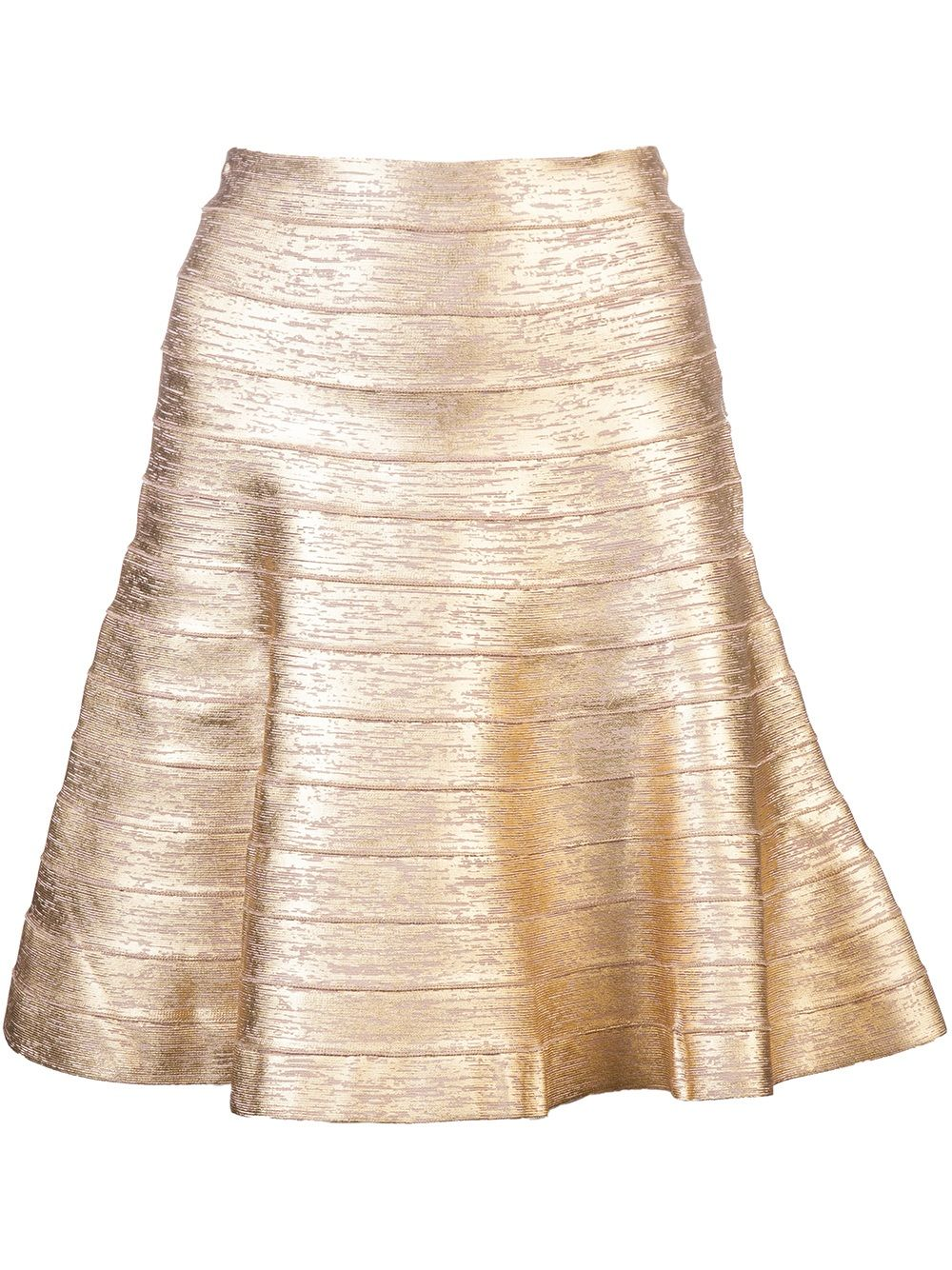 a43c24ce09b2 Hervé Léger Fit N' Flare Bandage Skirt in Gold Champagne. | Fun ...
