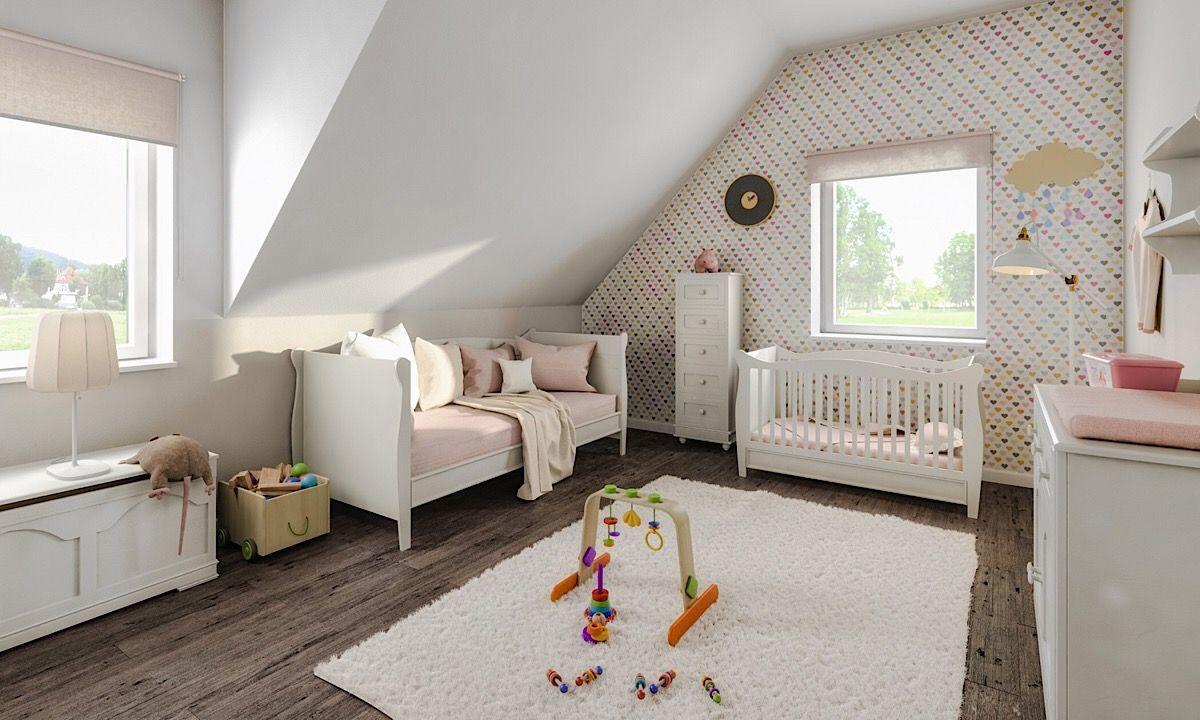 Kinderzimmer & Babyzimmer für Mädchen mit Dachschräge
