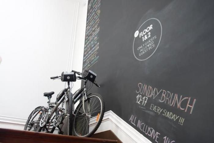 Bicycles-Chalkboard-walls-Hotels : Gallery Image : Remodelista