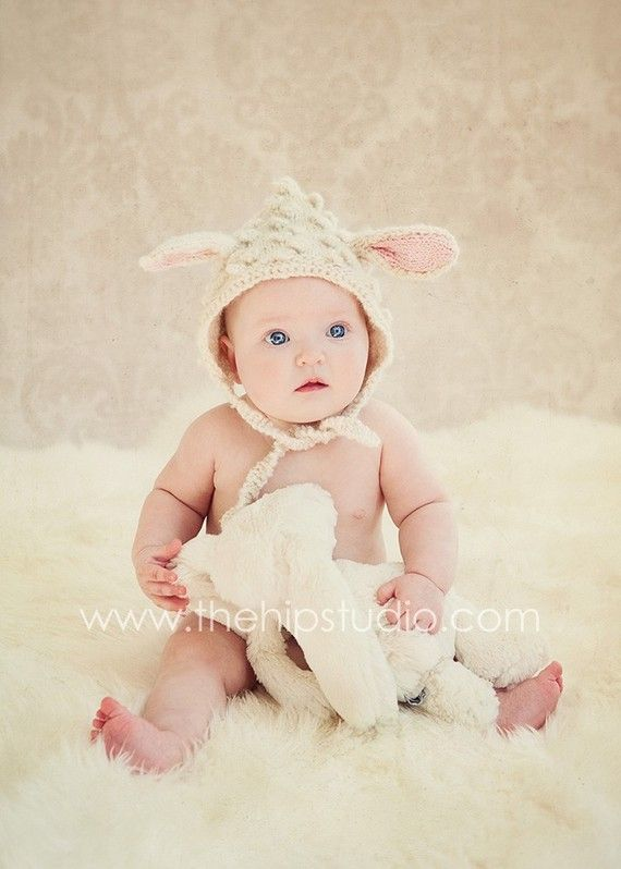 4772f856c64 Little Lamb Hat (alpaca wool) - Older Child to Adult Sizes - White ...