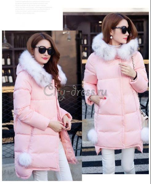c0297cd0eec шикарный женский пуховик с мехом зима 2016 - Куртки