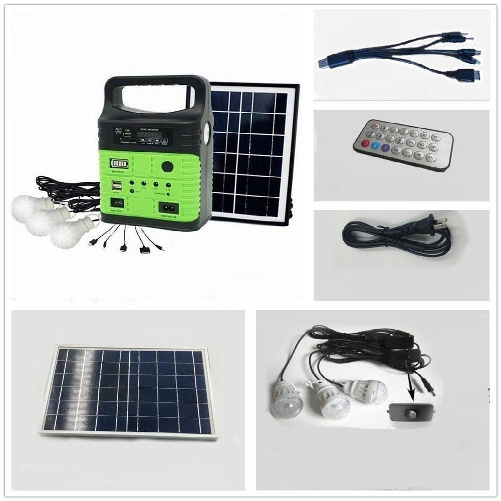10 Watt Solar Generator Portable Kit Power Inverter Solar Generator System Home Wegner Portable Solar Generator Solar Generator Rechargeable Batteries
