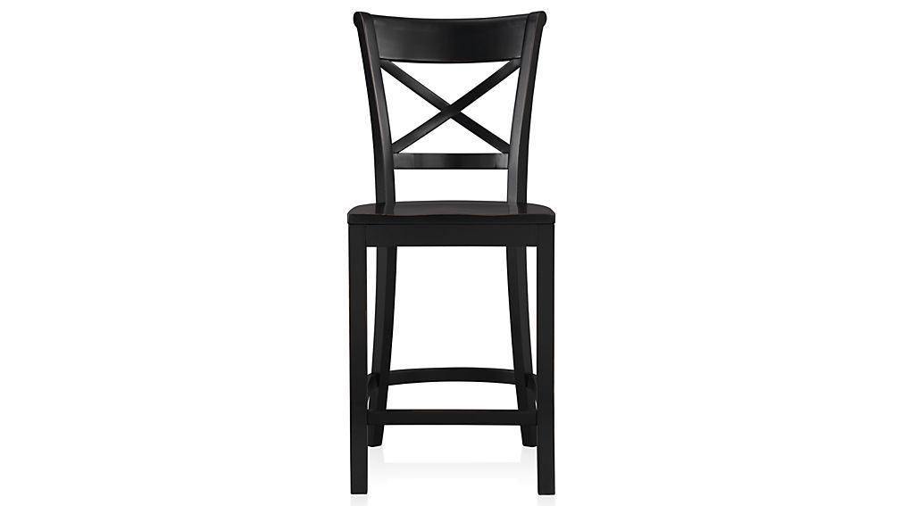 Vintner Black Bar Stool And Cushion Crate And Barrel Black Bar