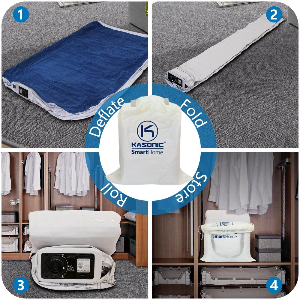 Kasonic Air Mattress Queen Size Inflatable Airbed with