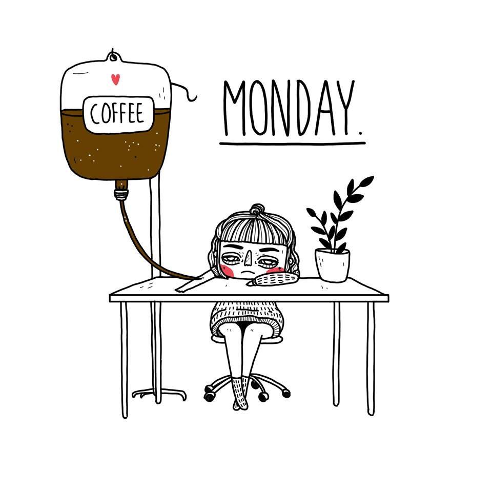 Monday Mood. Illustration by Laura Klinke. Instagram