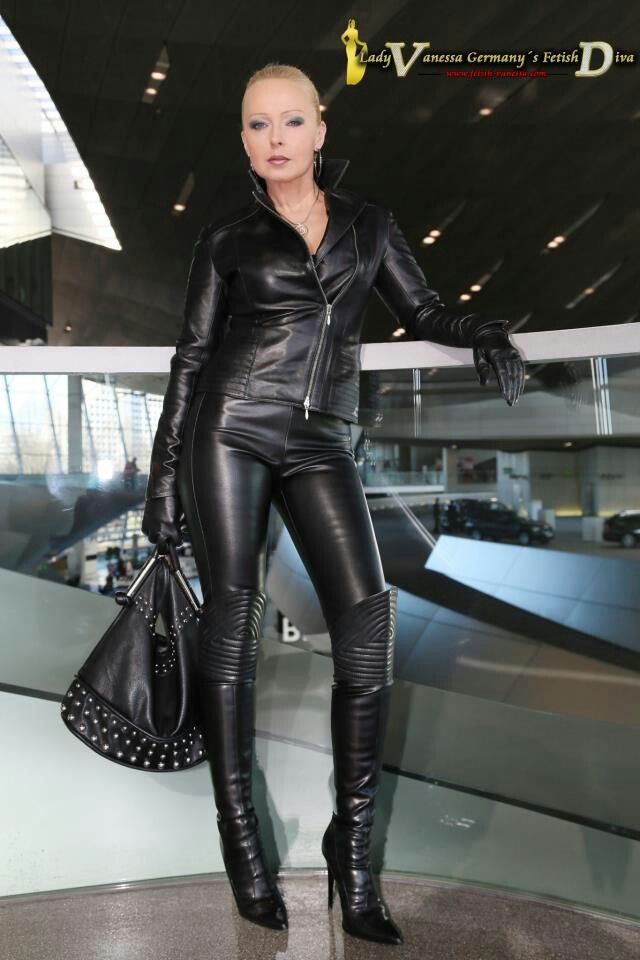 Female leather fetish clothes