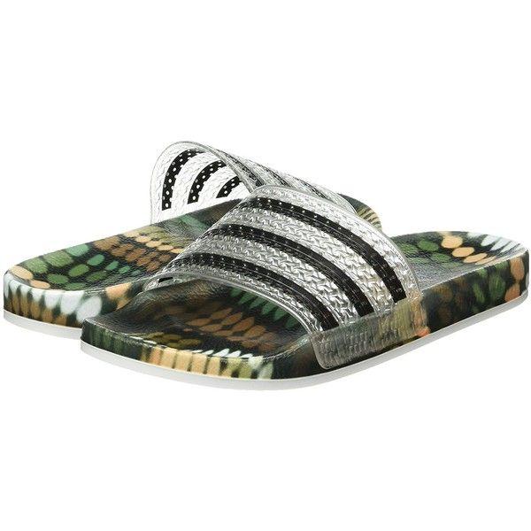Frágil Dardos Complaciente  Amazon.com | Adidas - Adilette W - S78838 - Color: Black-Silver -... ($123)  ❤ liked on Polyvore featuring shoes, adidas, flip flops… | Silver shoes,  Shoes, Shoe bag