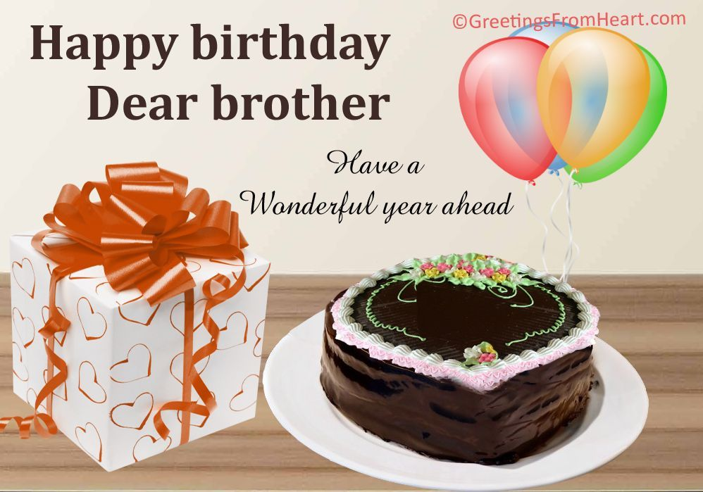 Greeting Card For Birthday Wishes To Brother 101 Happy Birthday