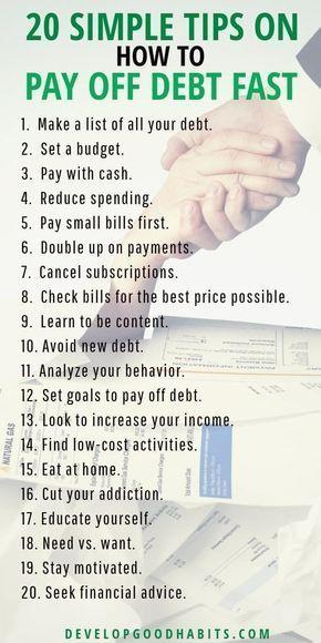 20 einfache Tipps zur schnellen Tilgung von Schulden   – PERSONAL FINANCE ♥