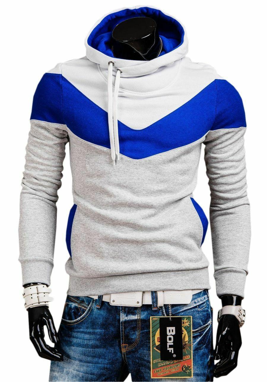 Herren Kapuzenpullover Hoodie Sweatshirt Sweatjacke Zip Pulli BOLF 1A1 Motiv