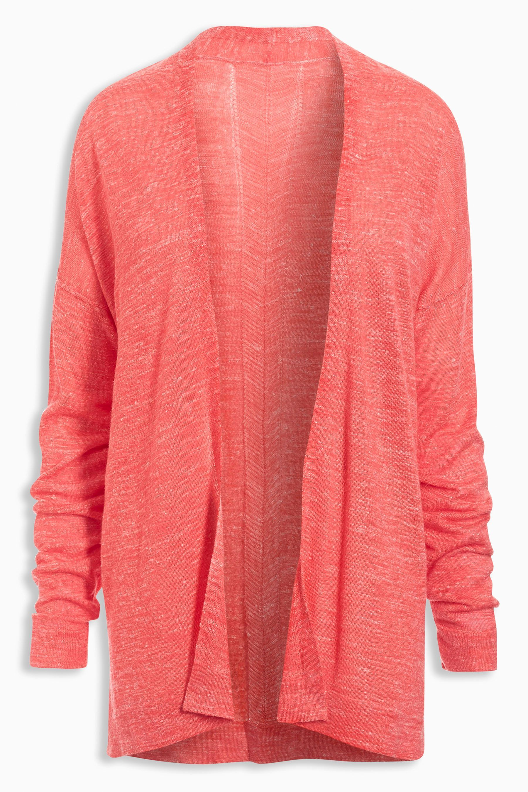 Buy White Linen Mix Edge to Edge Cardigan from the Next UK online ...