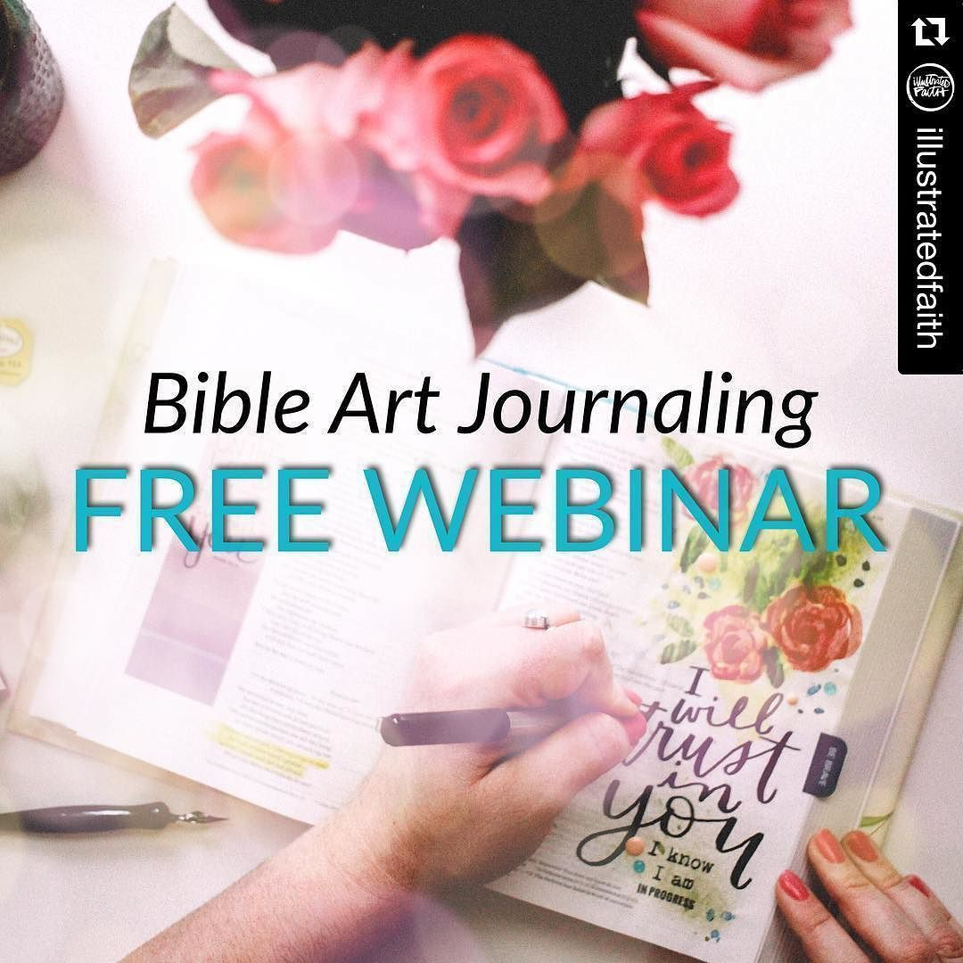 Join us for this FREE @IllustratedFaith webinar tonight! Enrich your time in God's Word & inspire others in their walk with Christ!  No need to be artistic  just bring your curiosity! Beautify Your Bible! Sign up at the featured link in our profile!  #illustratedfaith #illustratedfaithnewbie #biblejournaling #journalingbiblecommunity  #Repost @illustratedfaith with @repostapp.  Join me for a free webinar through faithgateway.com  Tuesday March 15th - make sure to claim your spot and get your…