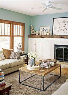 Inspiration for my oak-trimmed living room. #OnAMission