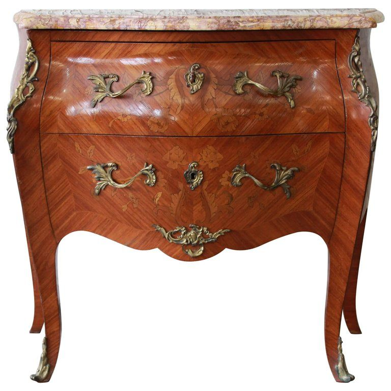French Marble Top Inlaid Bombay Chest With Mounted Bronze Ormolu Bombay Chest Antique Vanity Set Bombay