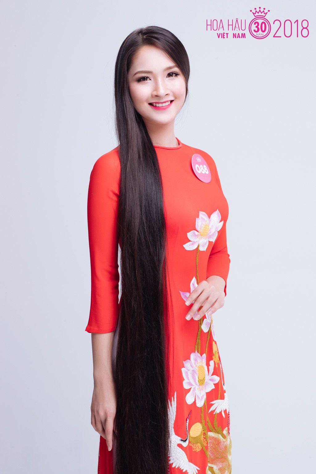 Người đẹp Hoa hậu Việt Nam 2018 khoe suối tóc dài ấn tượng hình ảnh 2