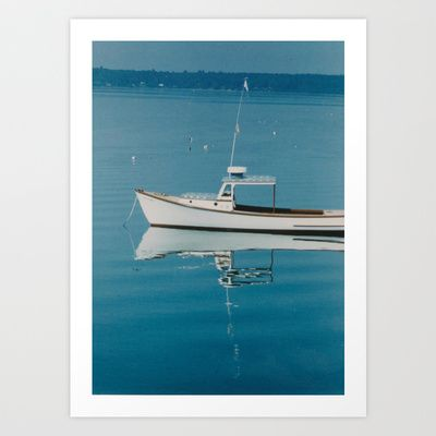A BOAT: MAINE Art Print by Ben Cliff - $15.60
