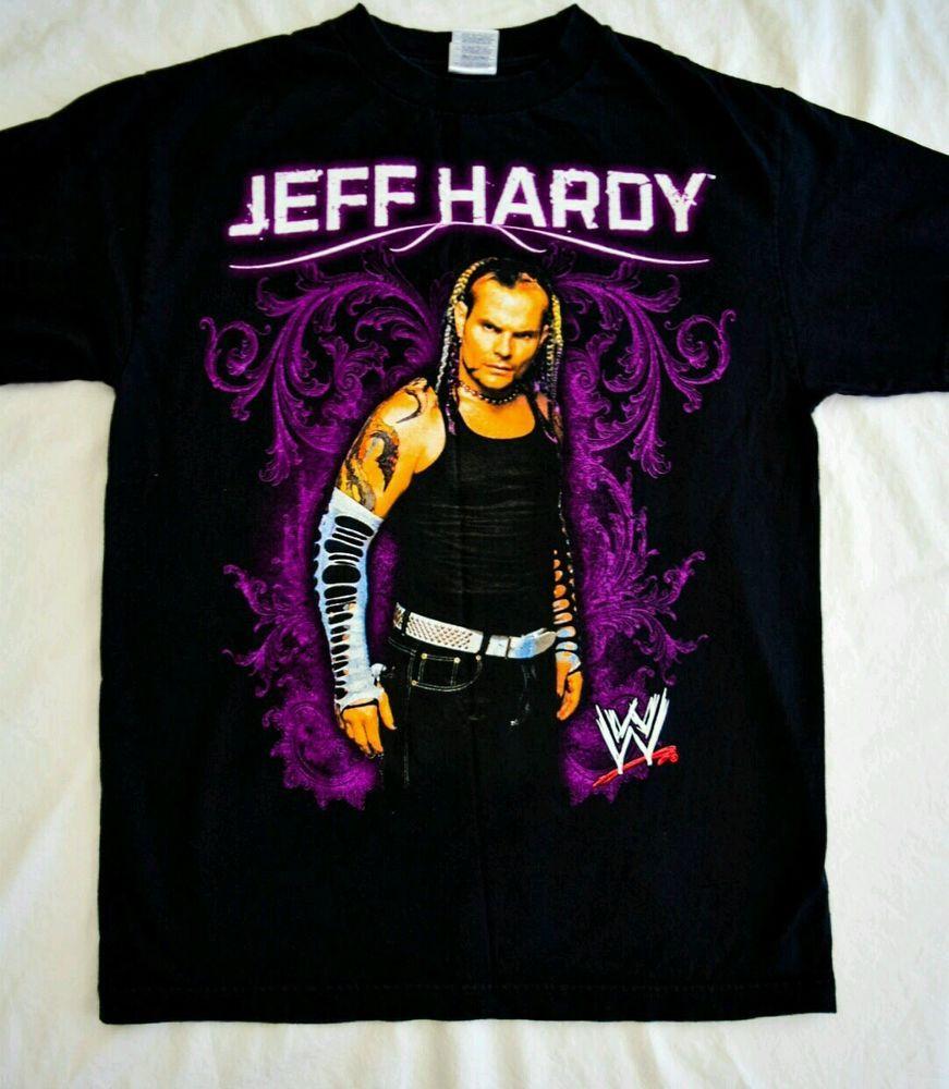 dbc459283 Jeff Hardy, WWF WWE T shirt Black. Men's size M. Wrestling, WWE, Hardys
