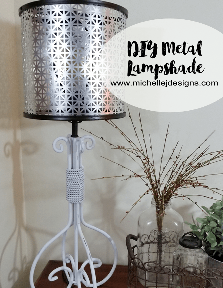 How To Create A Diy Metal Lampshade Diy Lamp Shade Diy Metal Diy Lamp