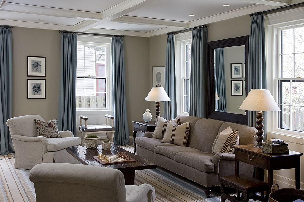 Beige Blue Beige Walls In The Kitchen And Family Room And The