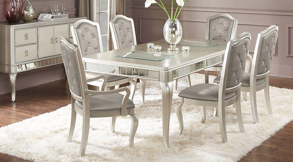 Sofia Vergara Paris Champagne 7 Pc Dining Room From Furniture